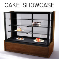 3d patisserie cabinet showcase model