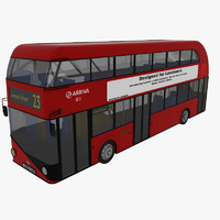 3d london bus new