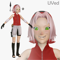 3d model of sakura shippuden uved