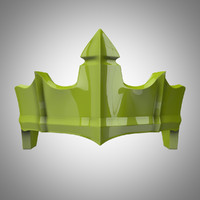 3d fantasy crown model