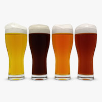 beer glass 4 colors 3d model