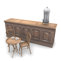 3d model cafe furniture