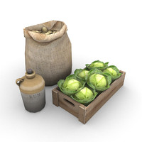 food supplies 3d model