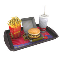 3d model meal hamburger fries