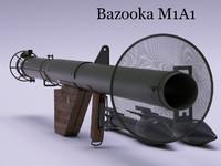 bazooka m1 3d model