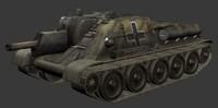 3d model su122 tank