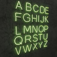 NEON alphabet upper case