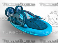 futuristic hover car 3d 3ds