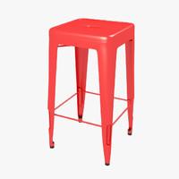 3d model steel tolix h stool