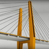 3d suspended bridge model