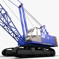 3d model crawler crane rdk-36