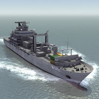3d replenishment ship model