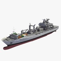 berlin class replenishment ship 3d model