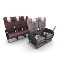 aircraft seating 3d obj