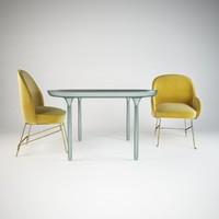 furniture set se london2 3d 3ds
