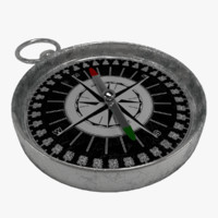 compass bump metallic 3d model