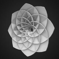3d 3ds abstract flower shape