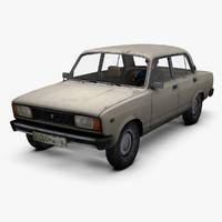 3d model lada 2105