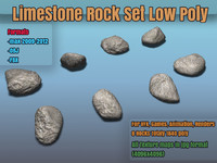 3ds max hi set rocks