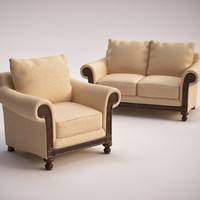 Hooker Furniture Windward Chair&Loveseat