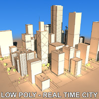 city building blocks 3d model