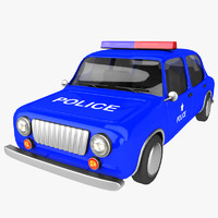 cartoon police car max