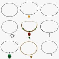 3d necklace neck model