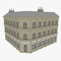 european building 3d 3ds