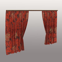 curtains floral print red max