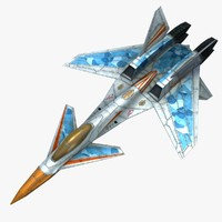 scifi aircraft 3d model