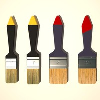 3d model paint brush 01
