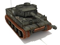 3d tank tiger 502 battalion model