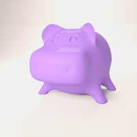 hippopotamus money 3d model