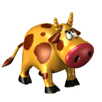 maya cartoon cow