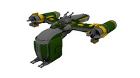 lego bounty hunter assault 3d model
