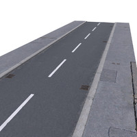 3d pavement street model