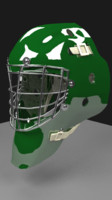 3d hockey goalie helmet