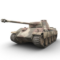 3d model german sdkfz panther panzer
