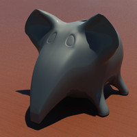 3d model money box elephant