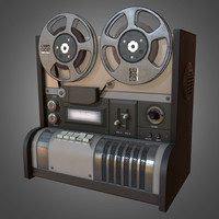 reel recorder 3d model