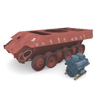 german panzer construction 3d model