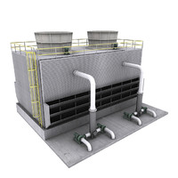 3d model water cooling tower