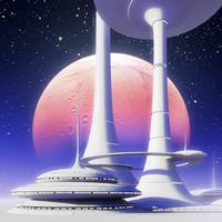 futuristic building sci-fi