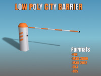 city barrier 3d model