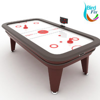 3d model air hockey table
