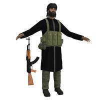 obj mujahideen ak47 soldier
