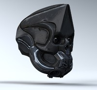 3d - sci fi helmet animation
