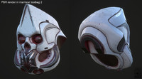 - sci fi helmet animation 3d model