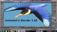 3d blend kingfisher bird