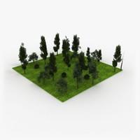3D Forest Tile